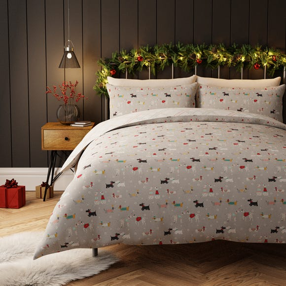 Bertie and Friends Grey Duvet Cover and Pillowcase Set Grey undefined