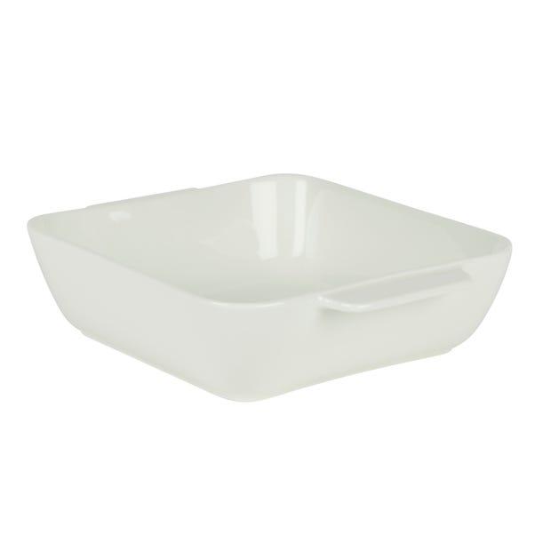 Medium Porcelain Roaster White