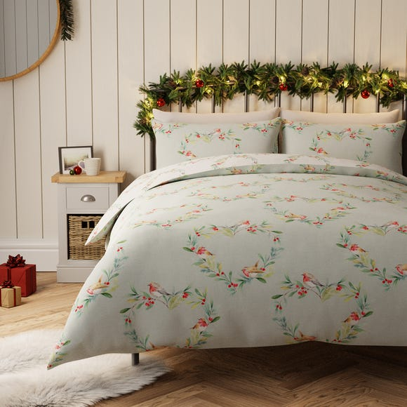 Robin Heart Reversible 100% Cotton Duvet Cover and Pillowcase Set  undefined