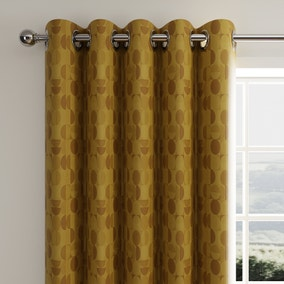 Oscar Ochre Eyelet Curtains