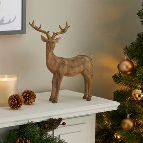 Resin Standing Stag Ornament