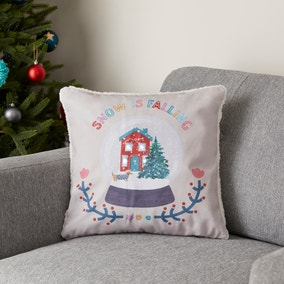 Snowglobe Light-up Natural Cushion Cover