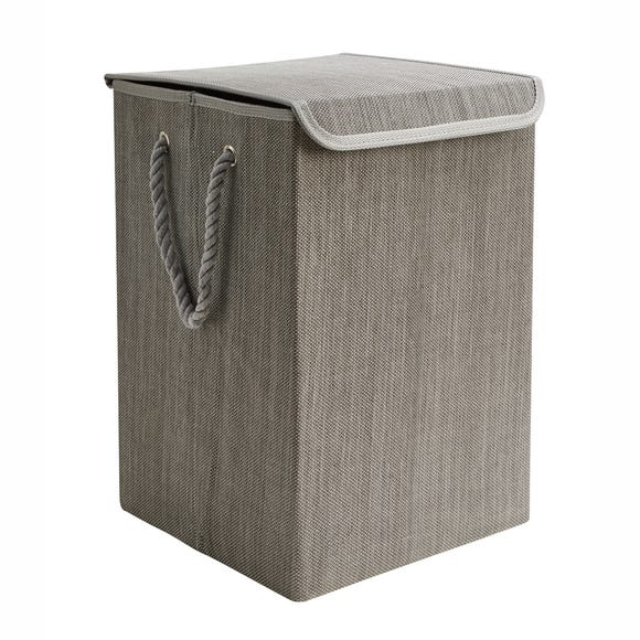 Collapsible Grey Laundry Basket