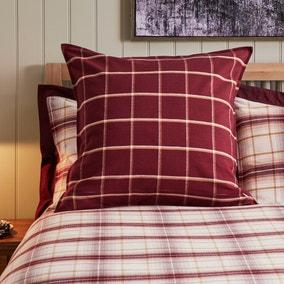 Dorma Finlay Red Checked Continental Pillowcase Pair