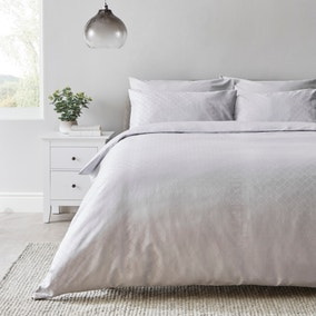 Airton Jacquard  100% Cotton Reversible Duvet Cover and Pillowcase Set