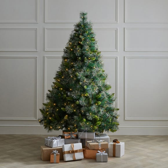 6ft Pre-lit Champagne Tip Fir Christmas Tree Green