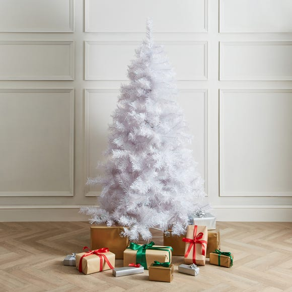 6ft White Lustre Effect Tree White
