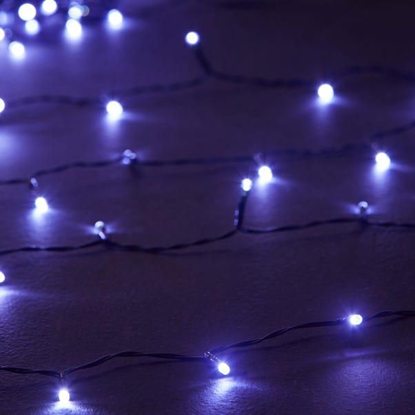 100 LED White Timer Lights White