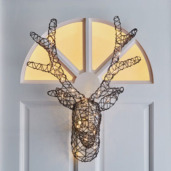 Stag Head Wall Light Brown