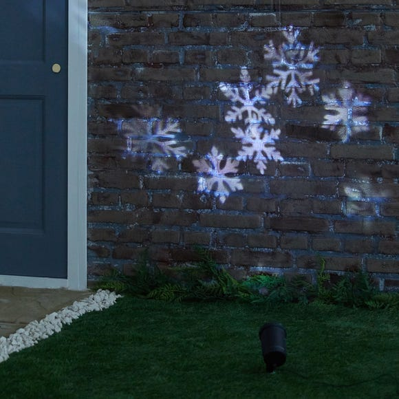 LED Projector With Snow Moving Pattern Black