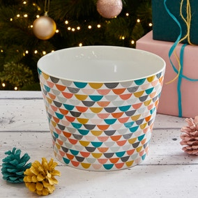 Elements Half Moon Pattern Plant Pot