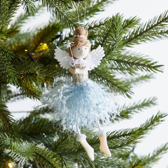 Mini Blue Fairy Hanging Dec Light Blue