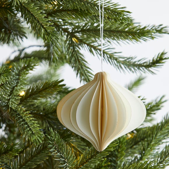 Paper Onion 10cm Decoration White