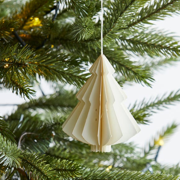 Paper Tree 10cm Decoration White
