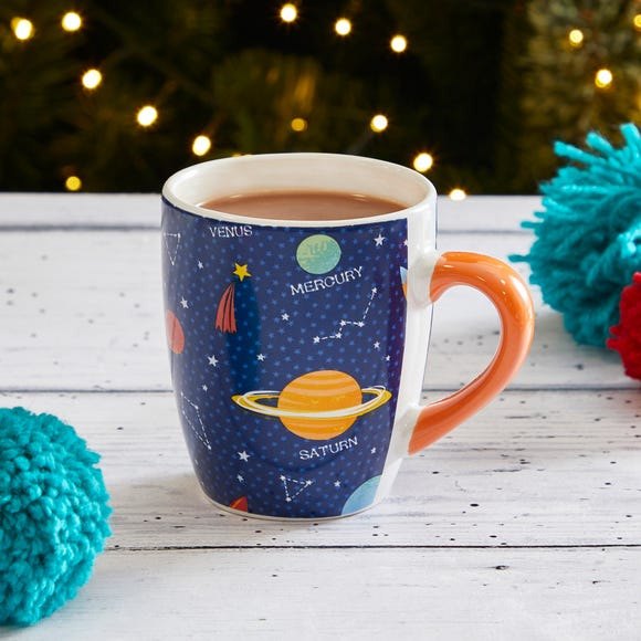Space Mug with Hot Chocolate Gift Set Blue