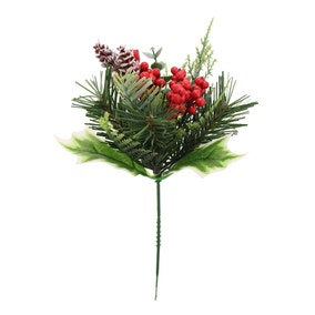 Varigated Holly and Eucalyptus Pick