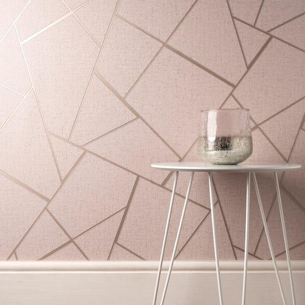 Quartz Blush Fractal Wallpaper Blush