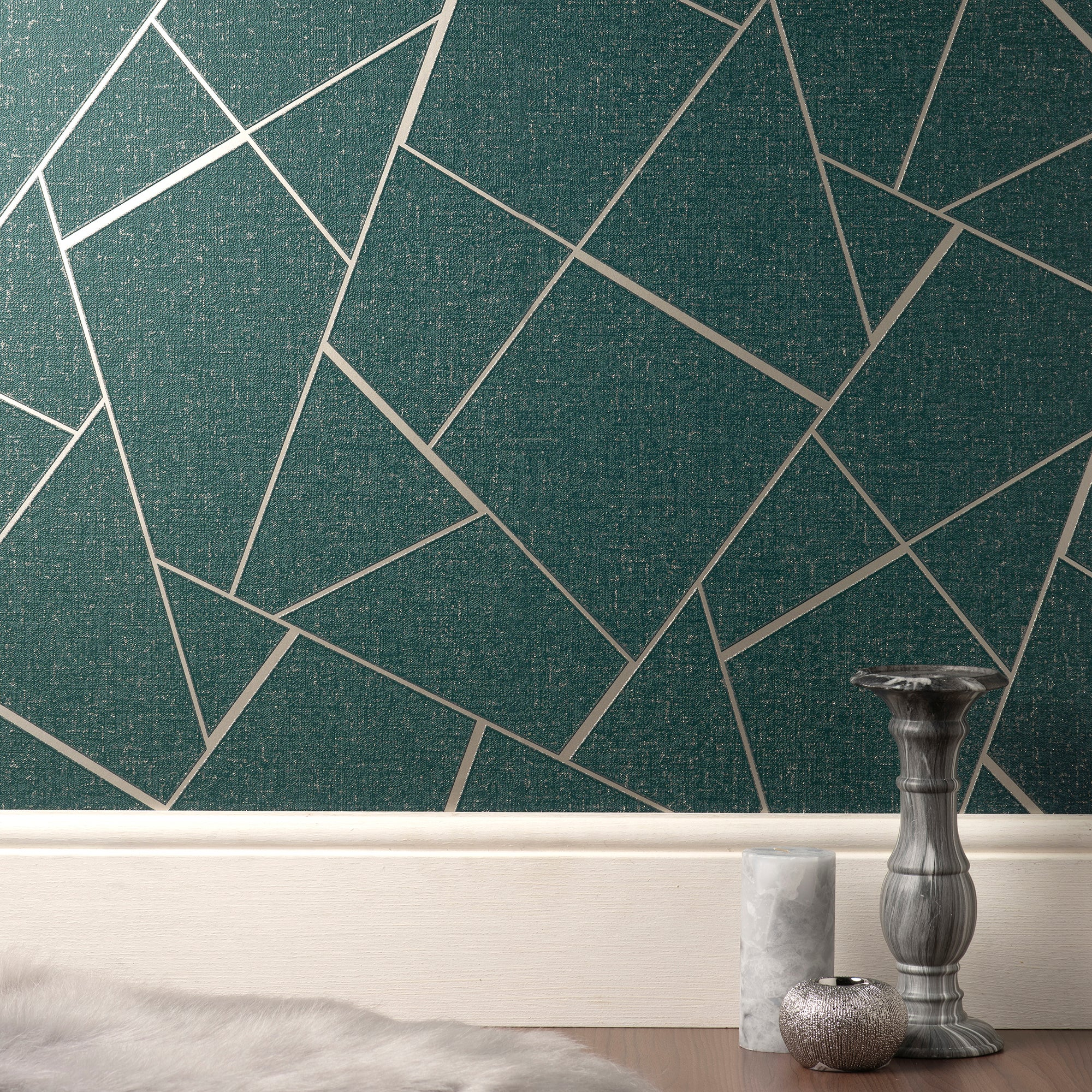 Click to view product details and reviews for Quartz Emerald Fractal Wallpaper Green And Rose Gold.