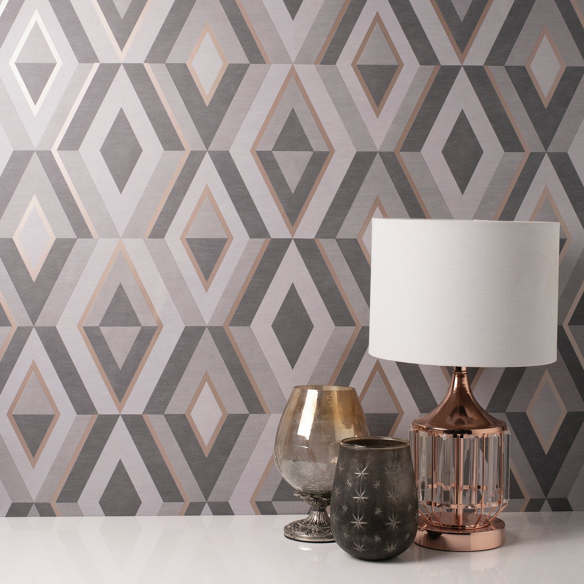 Click to view product details and reviews for Shard Charcoal Geometric Wallpaper Charcoal And Brown.