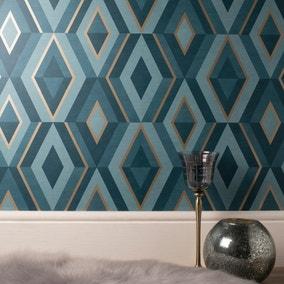 Shard Emerald Geometric Wallpaper