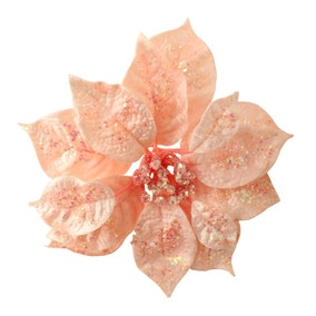 Blush Pink Poinsettia Clip