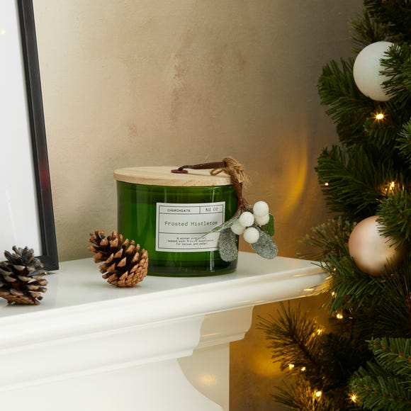 Churchgate Frosted Mistletoe Multi Wick Candle Green