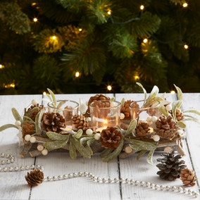 Mistletoe 3 Tealight Centrepiece