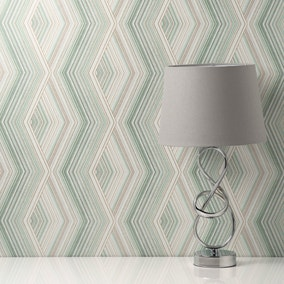 Aura Emerald Geometric Wallpaper