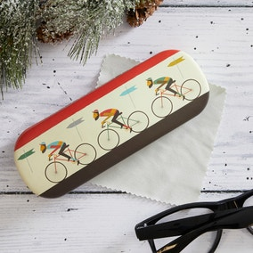 Le Bicycle Glasses Case With Cloth