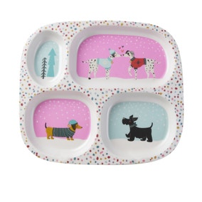 Christmas Dogs Divider Plate