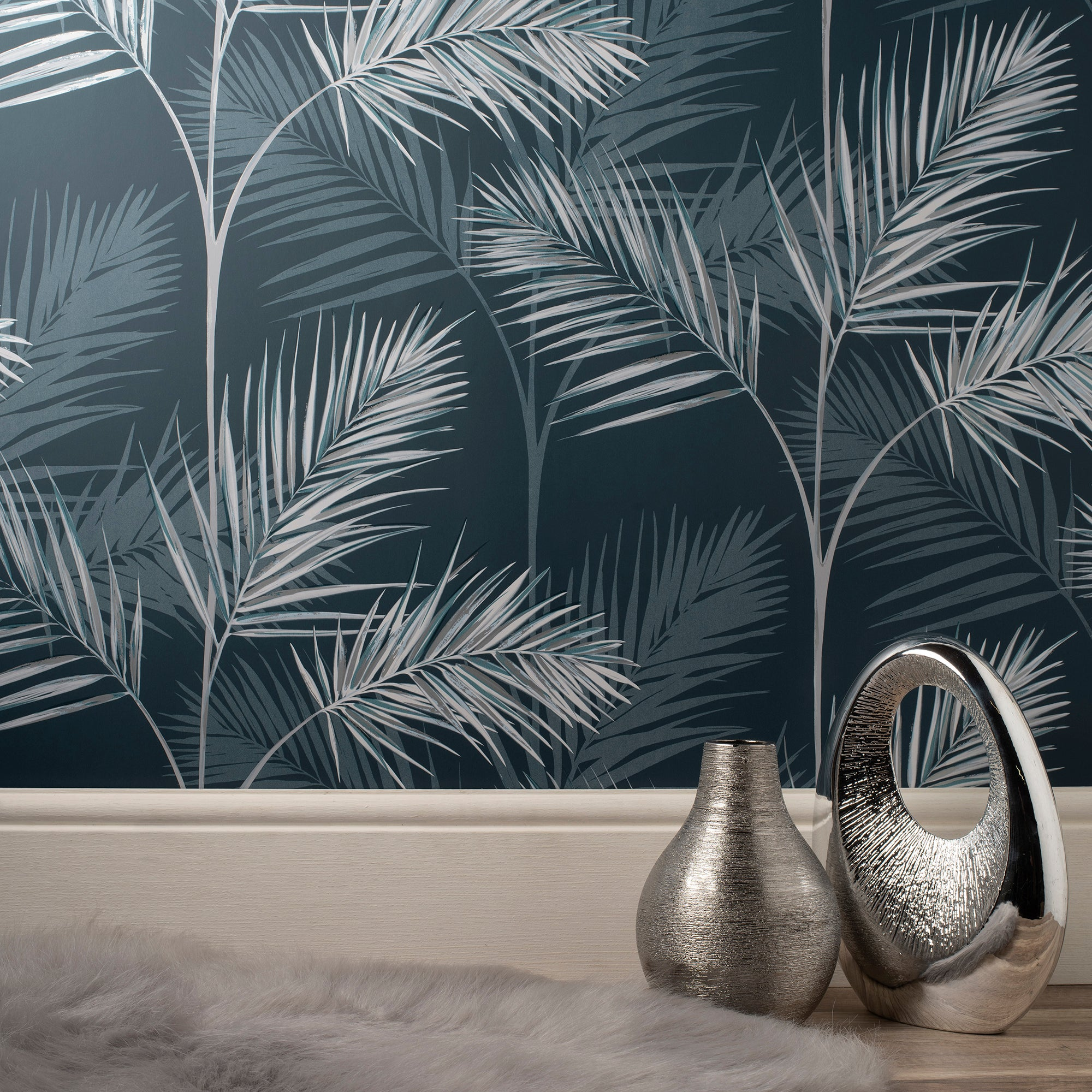 Click to view product details and reviews for South Beach Navy Wallpaper Navy Grey And White.