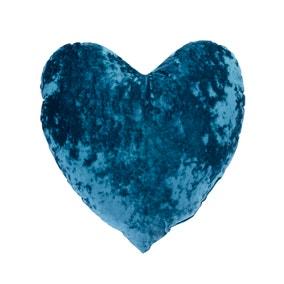 Heart Crushed Velour Cushion