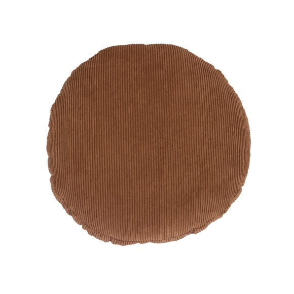 Circle Corduroy Cushion Brown undefined
