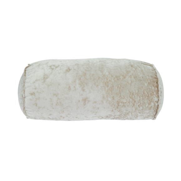 Bolster Crushed Velour Cushion Champagne
