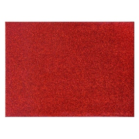Red glitter placemats Set of 4