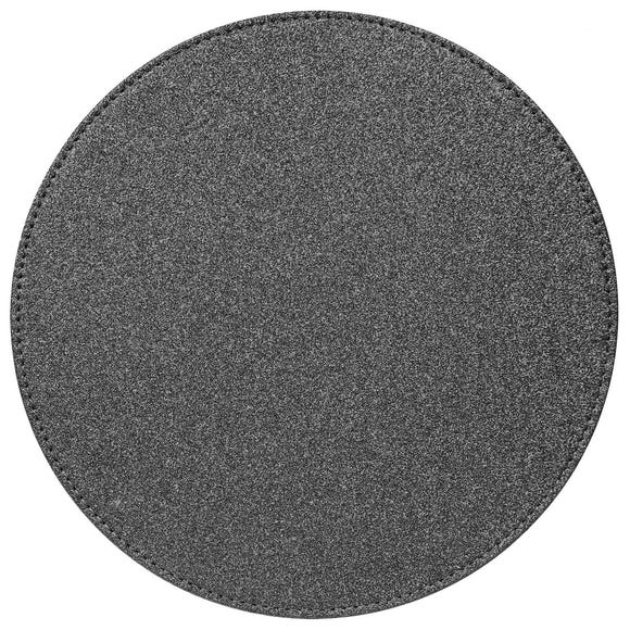 Glitter Set of 4 Placemats Charcoal Black