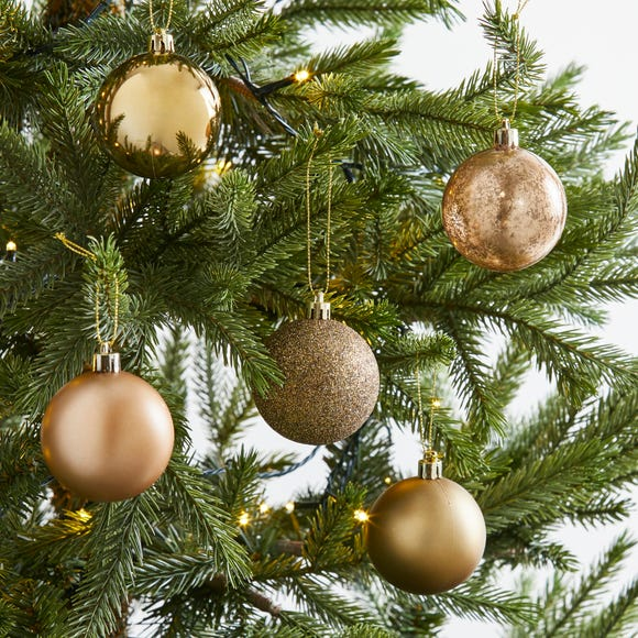 Pack of 30 Gold Baubles Gold