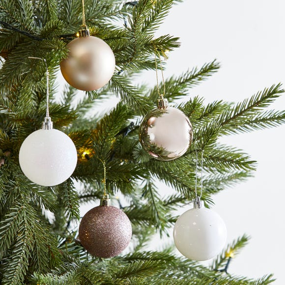 Pack of 30 Pink Baubles MultiColoured