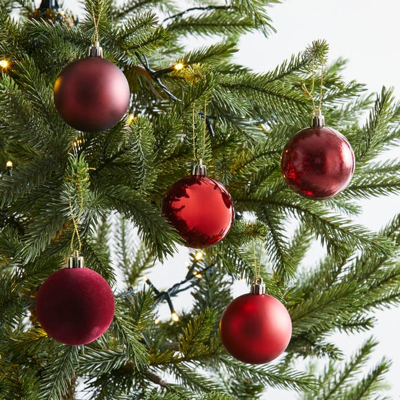Pack of 30 Red Baubles Red
