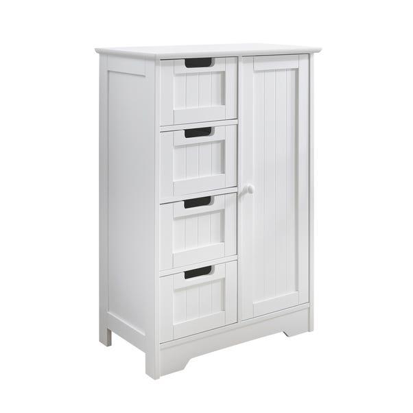 White 4 Drawer Storage Cabinet Dunelm, White Storage Cabinet With Drawers
