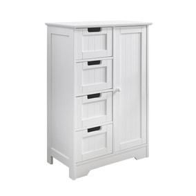 White 4 Drawer Storage Cabinet