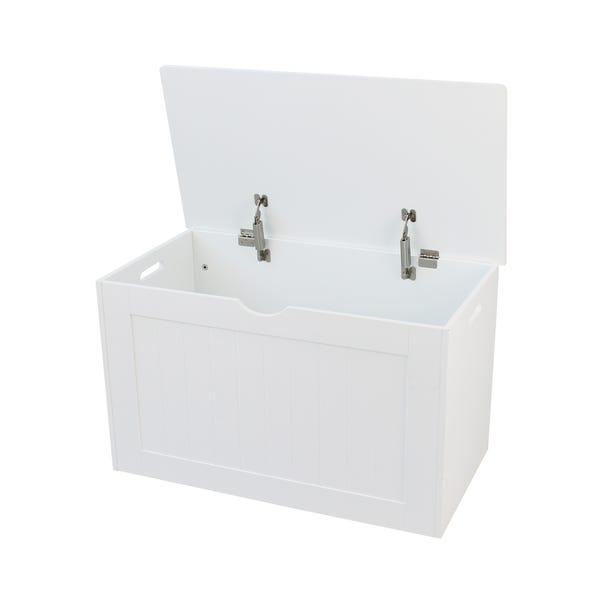 White Shaker Style Blanket Box White