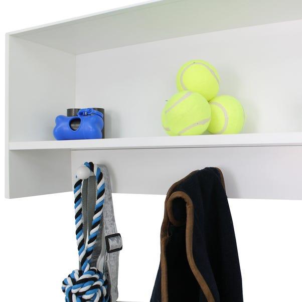 Wall Mounted Shelf With 3 Hooks White
