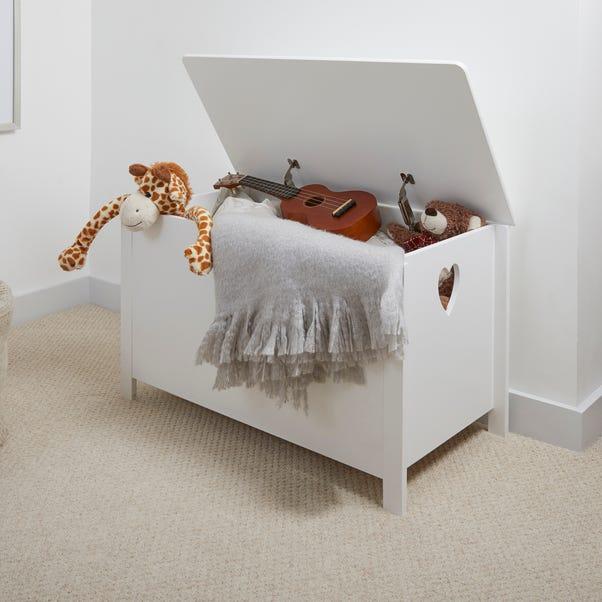 White Heart Cut Out Storage Box White
