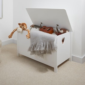 White Heart Cut Out Storage Box