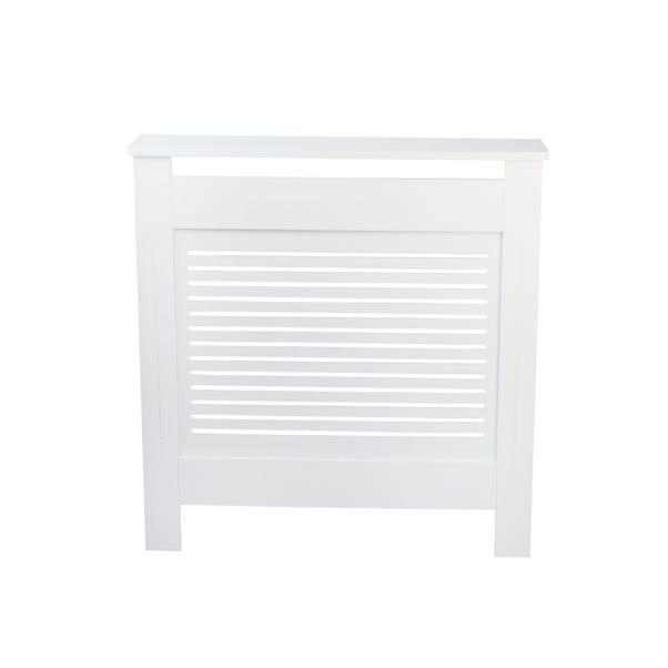 White Slatted Mini Radiator Cover White