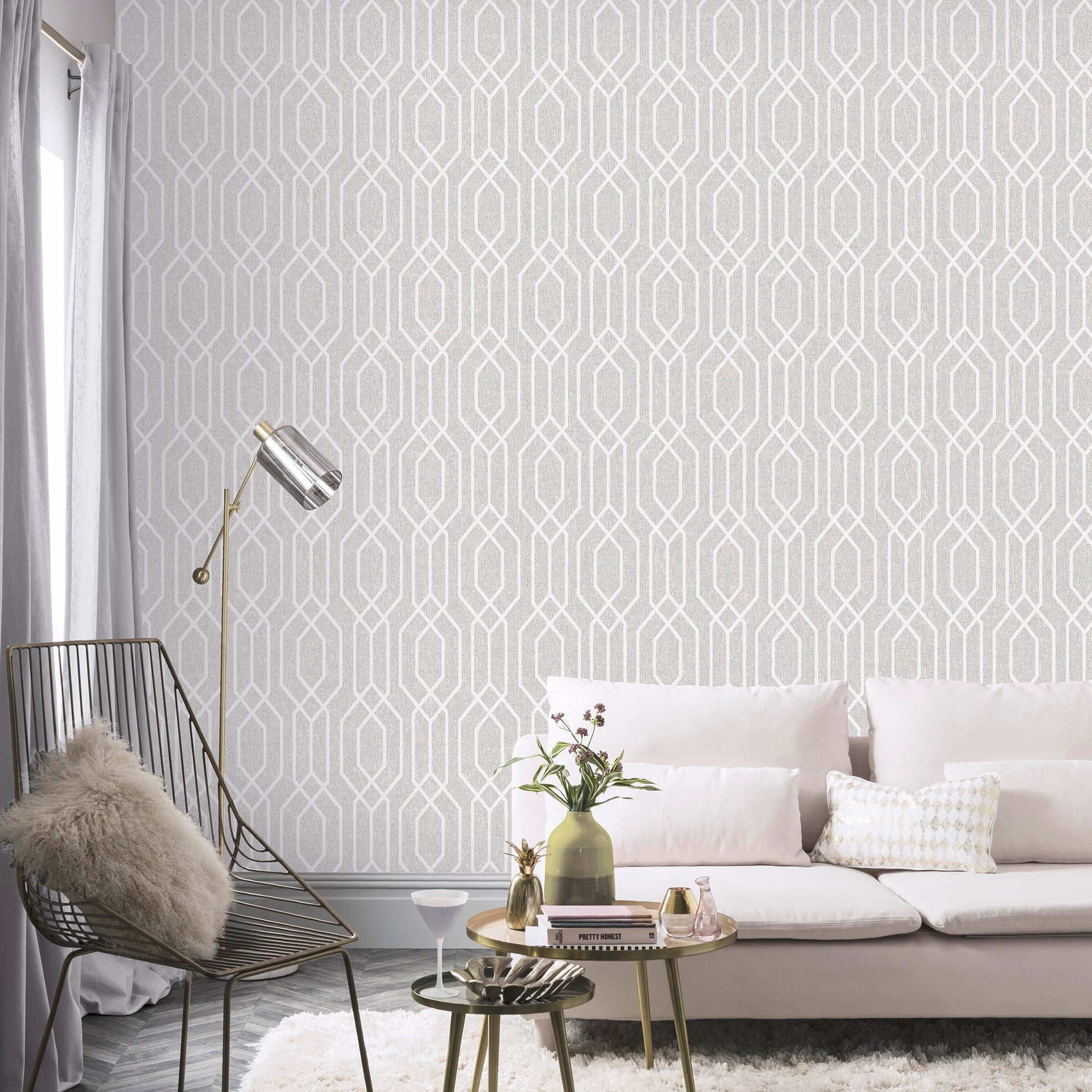Click to view product details and reviews for Ny Geometric Grey Wallpaper Grey And White.