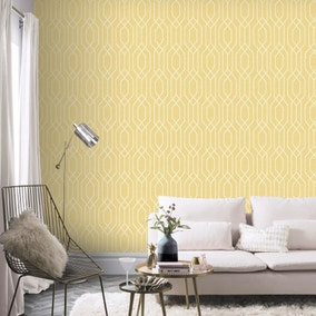 NY Geometric Yellow Wallpaper