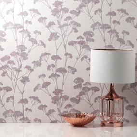 Tulsa Sprig Blush Wallpaper