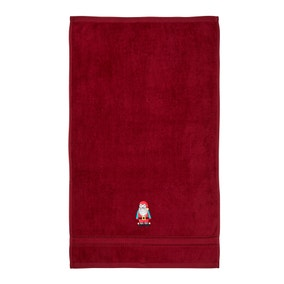 Red Santa 100% Cotton Novelty Hand Towel